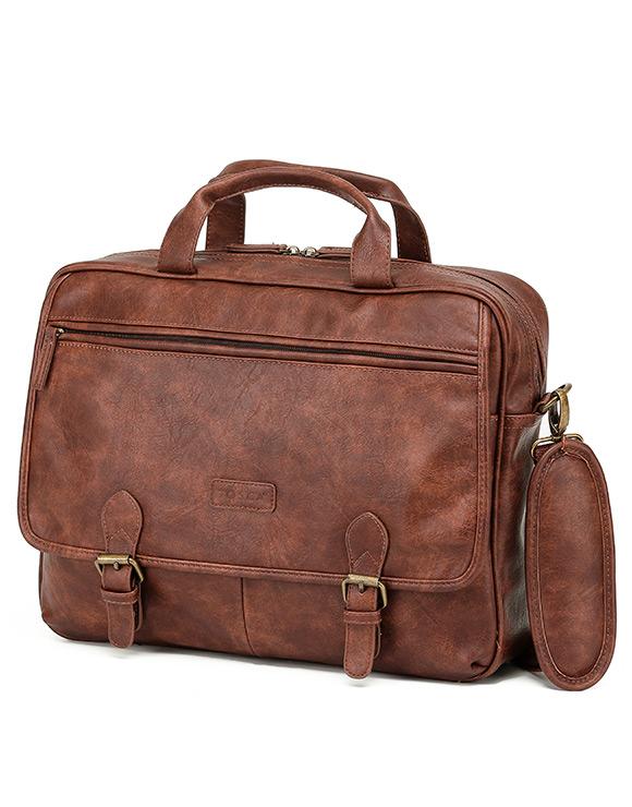 Vegan Leather Briefcase