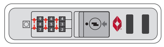 Resetting your TSA lock